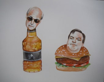 Lahey and Randy original painting