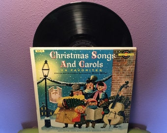 BIRTHDAY SALE Vinyl Record Album Christmas Somgs and Carols LP 1958 Children's Holiday
