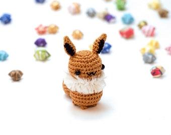 Eevee / Pokemon / Crochet / Amigurumi / Plushie / Miniature