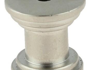 Set of 24 DIY Knob Bases Satin Nickel Make your Own Drawer Pulls