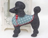Poodle Christmas ornament, Felt dog ornament, Poodle decoration, Dog Christmas Ornament, Handmade felt Poodle, Lulu.Christmas in July, CIJ