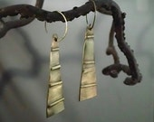 Fold formed Nu Gold earrings