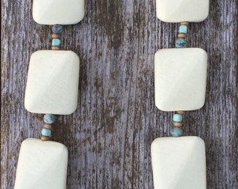Wood with turquoise