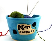 Knit Happens - Yarn Bowl for Chicks with Sticks - Ready to Ship