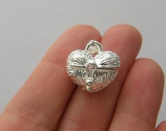 1 Wish box charm silver plated M676