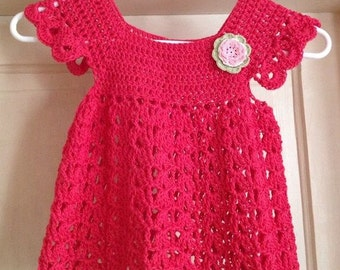Crochet Pattern - Child's Pinafore/Smock Dress -  Sizes from 1 year to 10 years of age