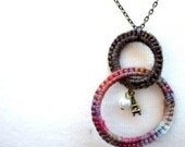 Double Ringed Pendant Necklace - French Girl