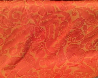 Casablanca Salmon PAISLEY FLORAL upholstery fabric, 10-29-10-0810