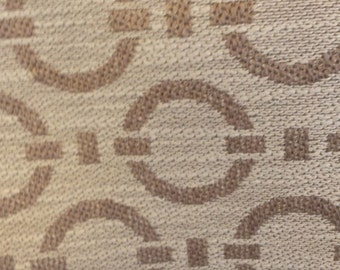 CIRCLES TAUPE Ivory CONTEMPARY Upholstery Fabric , 35-76-02-1014