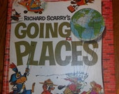 Richard Scarry's Going Places-1971 Hardback Look and Learn Library Vintage