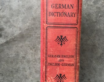 Antique German English Dictionary 1939