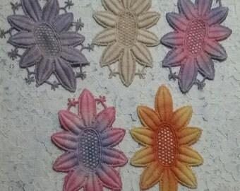 Vintage Sun Lace Hand Dyed Cotton Venise Crazy Quilt Embellishment Color Inspiration