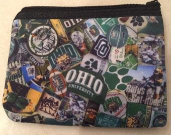 Ohio University Bobcats Zipper Wallet
