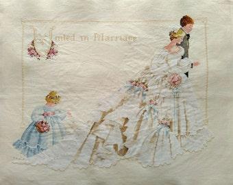 New Finished Completed Cross Stitch - Wedding -Elegant wedding - P24