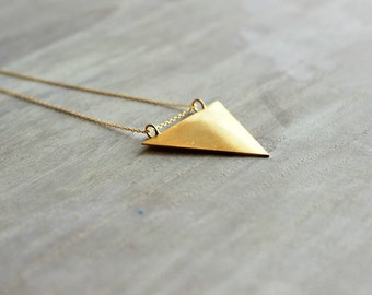 Triangle Pendant Necklace in Gold