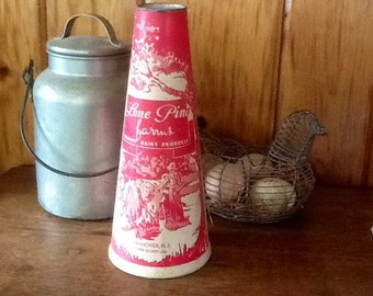 Antique Milk Carton Lone Pine Dairy Farms Hanover N.J.
