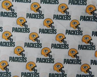 "NFL Football  Green Bay PACKERS , Cotton Fabric, 18"" X 58"", 1 /2  YARD, New"
