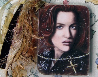 Faith and Evidence - Dana Scully - The X-Files Traditional Art - Laminated bookmark with ribbons - Hand Signed