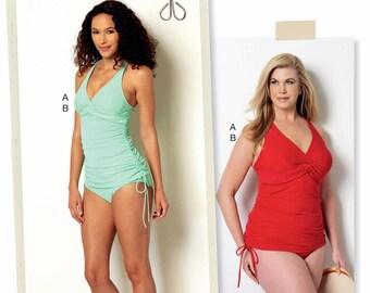 Womens' Swimsuit Pattern, Two Piece Swimsuit Pattern, Butterick Sewing Pattern 6360
