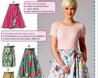Wrap Skirt Pattern, A Learn to Sew Pattern, McCall's Sewing Pattern 7129