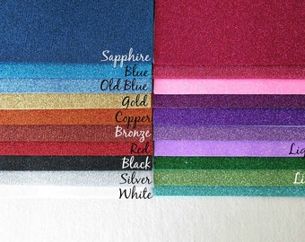 Sparkly Glitter Heat Transfer Sheets for Felt - 6x9 Sheets