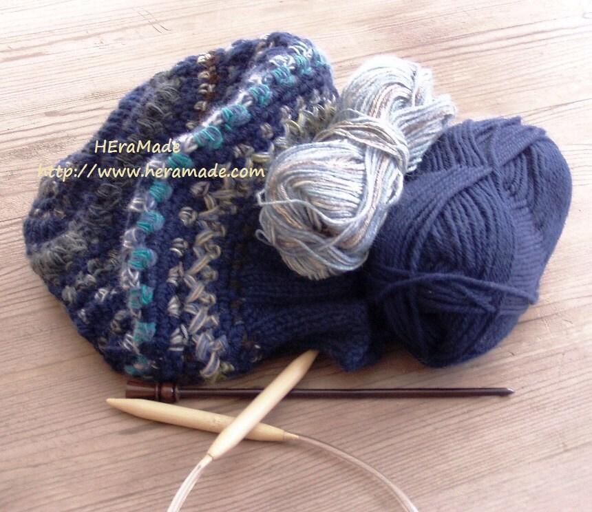 blue beret hat