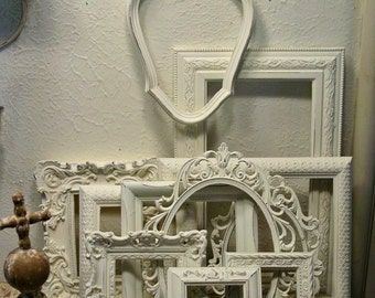 Frame Collection - Nursery Frames - Wedding Frames - Home Decor Wall Art - Farmhouse Frames -  Chalk Paint and Distressed Frames