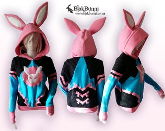 MADE TO ORDER - D.va Diva inspired Overwatch hoodie cosplay