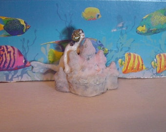 Mermaid and Sand Castle Ornament