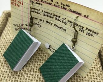 Handmade Book Earrings- Bibliophile earrings- 3D