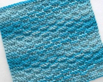 Cotton Dishcloth, Knitted Washcloth, Knit Dishcloth, Aqua Kitchen Decor