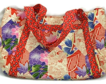 Red Asian Style Hobo Bag