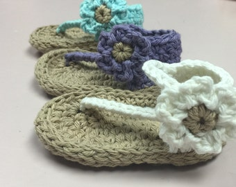 Baby One Strap Sandal Crochet Pattern- Immediate PDF download. Permission to sell finished products