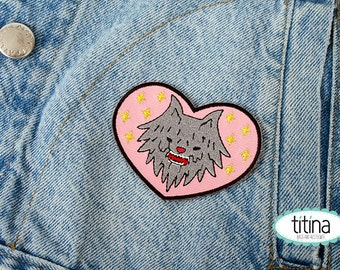 werewolf my love embroidered  iron on patch