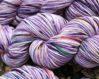1999 hand painted yarn - hand dyed superwash merino dk wool / 100g wool / DK yarn / hand dyed / variegated yarn / prince / purple yarn