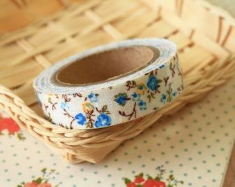Little Garden Blue flowers deco fabric tape