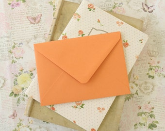Apricot Orange vintage series blank C6 envelopes