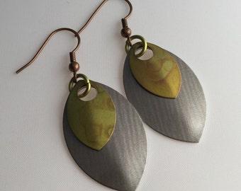Steampunk scale earrings