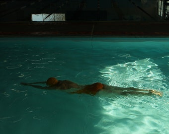 The Swimmer MidCentury Swimming Pool Figurative Fine Art Photography