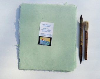 NEW Eight Sheets of 8x 10 inch Handmade Celadon Abaca Kozo paper