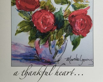 Red Flowers ~ a thankful heart is.....