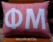 Phi Mu Sorority Appliqued Pillow (2016-15)