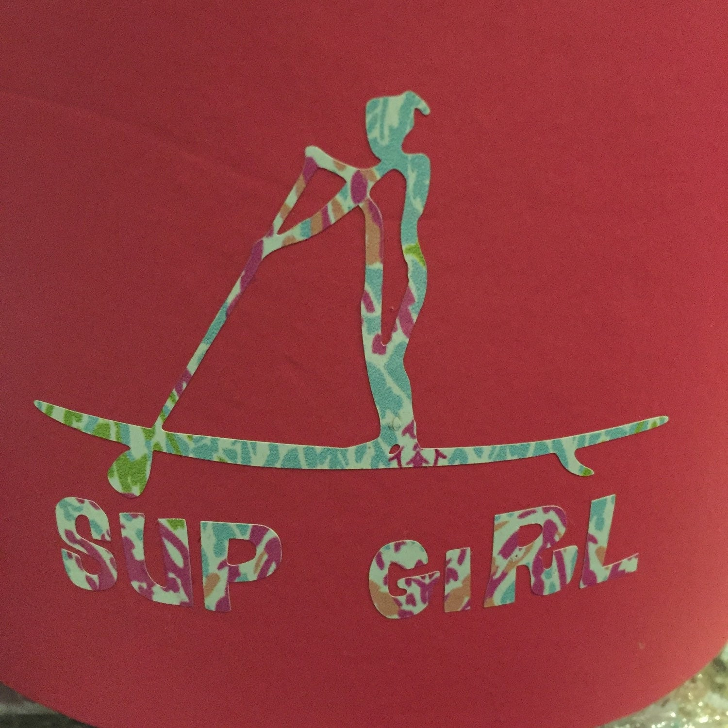 Stand up paddle board ornament - Stand Up Paddle Board Girl Zoom