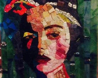 Violetta dans la foret, mosaic portrait