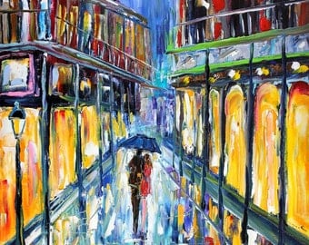 Fine art Print from image of oil painting _ New Orleans Moon - print by Karen Tarlton