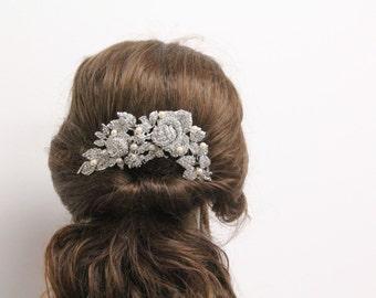 Wedding hair comb vintage Bridal hair comb pearl  Wedding hair accessory pearl Bridal hair accessory crystal Wedding hair jewelry Bridal