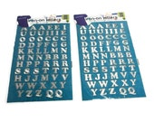 """Dritz Metallic Silver Embroidered Iron-On Letters - 2 Packages Iron On Alphabet Letters - 3/4"""" Dritz #15519 Silver Lettering DIY Projects"""