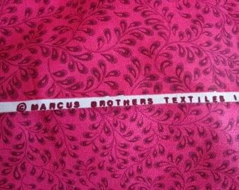 Marcus Brothers Textiles Fabric, Small Leaf Print, One Yard