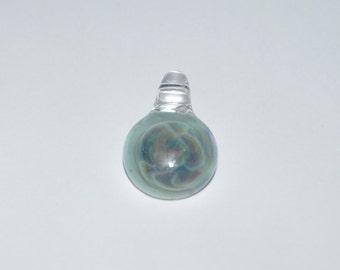 Aqua Azul White and Disco Sparkle Glass Pendant