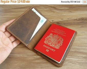 Holiday On Sale 10% off personalized leather passport case, passport wallet, leather passport holder, leather traval case for men